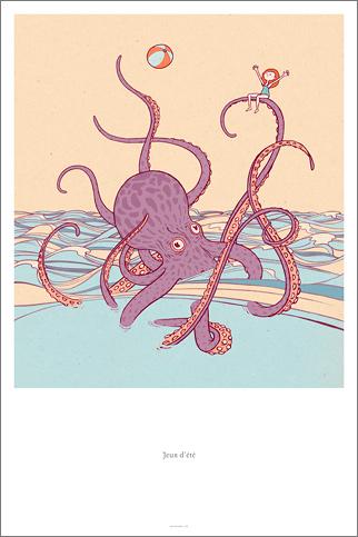 Jeux d'été - dessin poster
