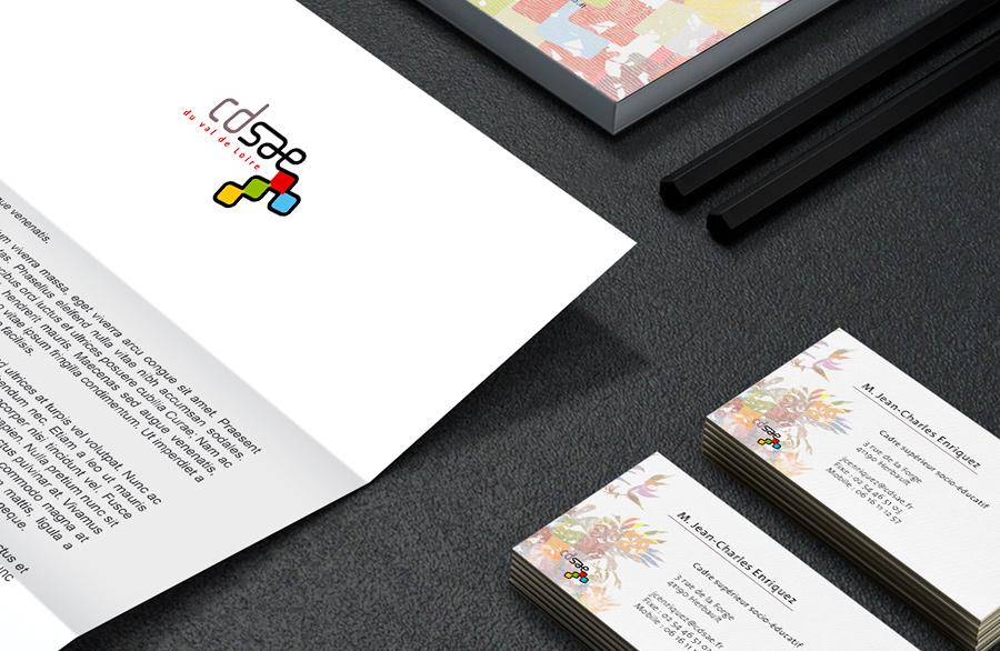 Identité visuelle - détail papeterie CDSAE
