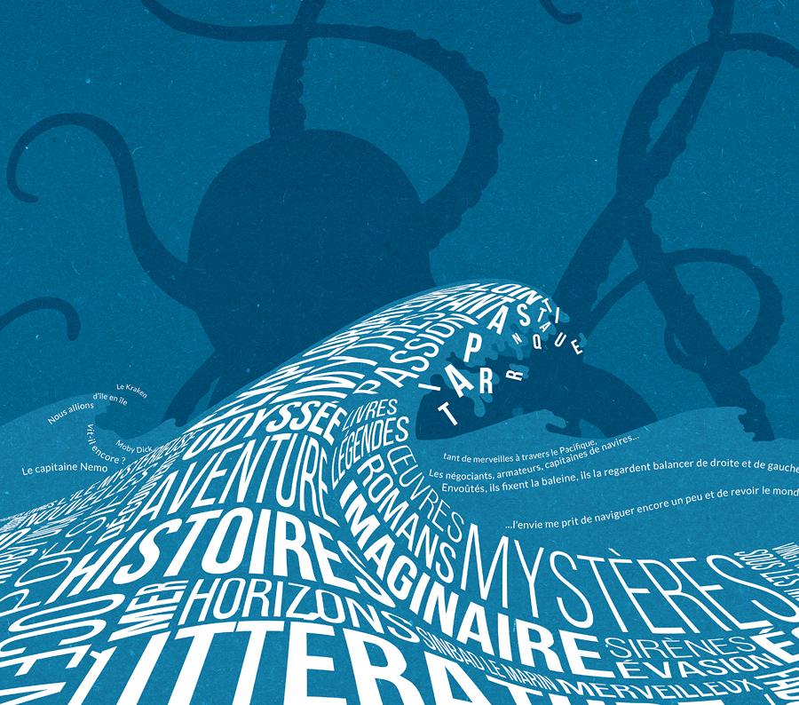 Affiche Mer et littérature - extrait